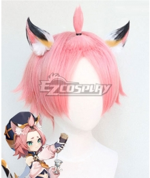 Genshin Impact Diona Pink Cosplay Wig