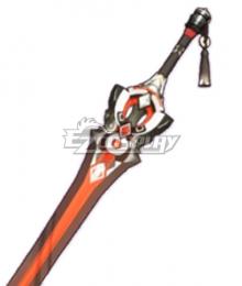 Genshin Impact Kaeya Traveler Jean Keqing Qiqi Xingqiu Blackcliff Longsword Sword Cosplay Weapon Prop