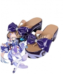 Genshin Impact Kokomi Blue Cosplay Shoes