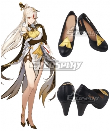 Genshin Impact Ningguang Black Cosplay Shoes