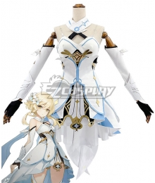 Genshin Impact Player Female Traveler Cosplay Costume A Edition