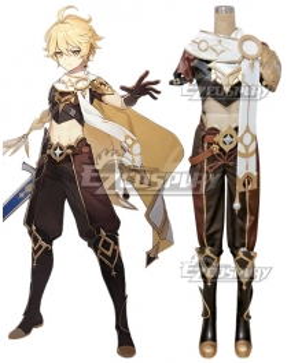 Genshin Impact Player Male Traveler Cosplay Costume