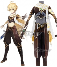 Genshin Impact Player Male Traveler Cosplay Costume