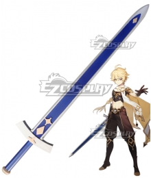 Genshin Impact Player Male Traveler Sword Cosplay Weapon Prop