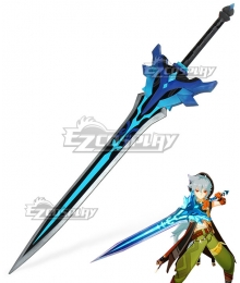 Genshin Impact Snow-Tombed Starsilver Razor Noelle Chongyun Beidou Claymores Cosplay Weapon Prop