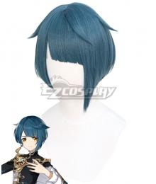 Genshin Impact Xingqiu Blue Cosplay Wig