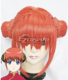 Gintama Kagura Meatball Head Orange Cosplay Wig