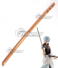 Gintama Sakata Gintoki Toyako Bokuto Wooden Sword Cosplay Weapon Prop