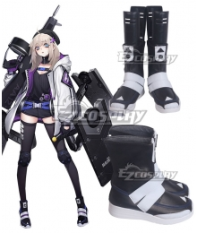 Girls' Frontline AA12 Black White Shoes Cosplay Boots