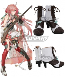 Girls' Frontline Carcano M1891 White Black Cosplay Shoes
