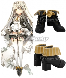 Girls' Frontline Desert Eagle Black Yellow Cosplay Shoes