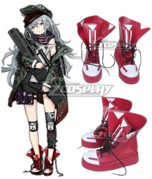 Girls' Frontline G11 Red Cosplay Shoes
