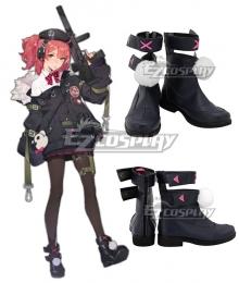 Girls' Frontline Heckler & Koch Maschinenpistole 7 MP7 Black Shoes Cosplay Boots