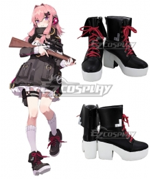 Girls Frontline K31 Black Red Shoes Cosplay Boots