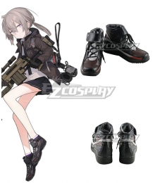 Girls Frontline M200 Black Brown Cosplay Shoes