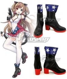 Girls Frontline MK23 Black Cosplay Shoes