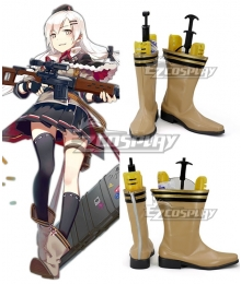 Girls Frontline SVD Brown Yellow Shoes Cosplay Boots