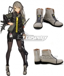 Girls Frontline UMP40 White Brown Cosplay Shoes