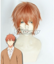 Given Mafuyu Satou Orange Red Cosplay Wig