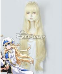 Goblin Slayer Priestess Onna Shinkan Light Golden Cosplay Wig