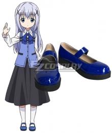 Gochuumon wa Usagi Desu ka? Is the Order a Rabbit? Chino Kafuu Blue Cosplay Shoes
