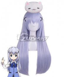 Gochuumon wa Usagi Desu ka? Is the Order a Rabbit? Chino Kafuu Purple Cosplay Wig