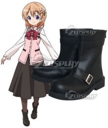 Gochuumon wa Usagi Desu ka? Is the Order a Rabbit? Cocoa Hoto Black Cosplay Shoes