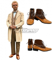 Good Omens Aziraphale Brown Cosplay Shoes