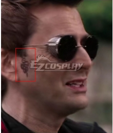 Good Omens Crowly Tattoo Stickers Cosplay Accessory Prop