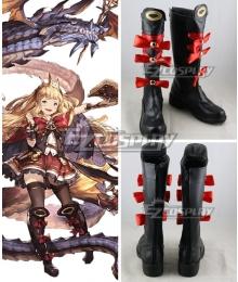 Granblue Fantasy Cagliostro Black Shoes Cosplay Boots