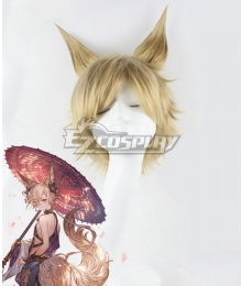 Granblue Fantasy Kou Golden Cosplay Wig