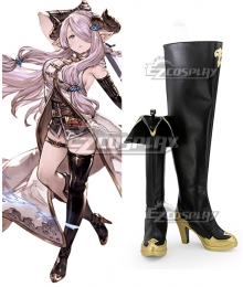 Granblue Fantasy Narmaya Black Shoes Cosplay Boots
