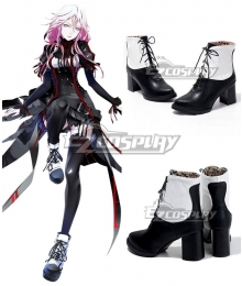 Guilty Crown Inori Yuzuriha EGOIST Reloaded Genocidal Organ Black Shoes Cosplay Boot