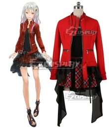 Guilty Crown Inori Yuzuriha Mufti Cosplay Costume