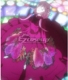 Guilty Crown Inori Yuzuriha Red Flower Dress Cosplay Costume