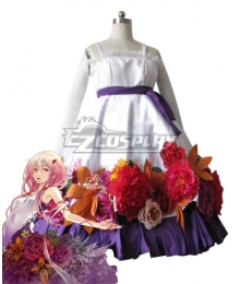 Guilty Crown Inori Yuzuriha White Flower Dress Cosplay Costume