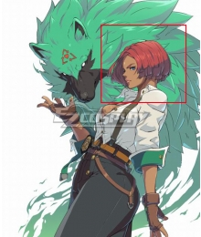 Guilty Gear STRIVE  Giovanna Red Cosplay Wig