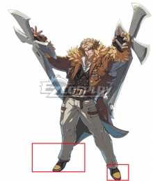Guilty Gear STRIVE Leo Whitefang Golden Cosplay Shoes