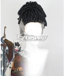 Guilty Gear STRIVE Nagoriyuki Black Cosplay Wig
