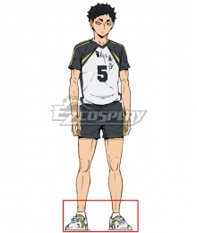 Haikyuu!! Season 4 Haikyuu!!: To the Top Keiji Akaashi White Cosplay Shoes