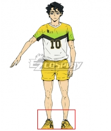 Haikyuu!! Season 4 Haikyuu!!: To the Top Kiyoomi Sakusa Yellow Cosplay Shoes