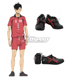Haikyuu!! Season 4 Haikyuu!!: To the Top Kuroo Tetsurou Black Cosplay Shoes