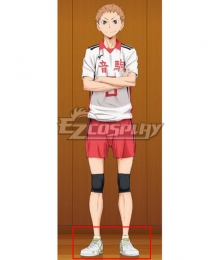 Haikyuu!! Season 4 Haikyuu!!: To the Top Morisuke Yaku White Cosplay Shoes