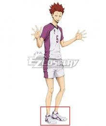 Haikyuu!! Season 4 Haikyuu!!: To the Top Tendo Satori White Cosplay Shoes