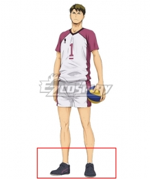 Haikyuu!! Season 4 Haikyuu!!: To the Top Wakatoshi Ushijima Black Cosplay Shoes