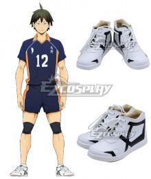 Haikyuu! Kōshi Sugawara Koushi Sugawara White Cosplay Shoes