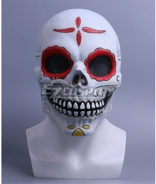 Halloween Day of the Dead Zombie Mask Cosplay Accessory Prop