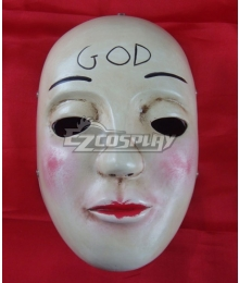 Halloween The Purge 2: Anarchy God Mask Cosplay Accessory Prop