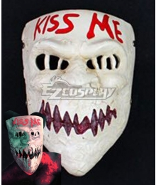 Halloween The Purge 3 : Election Year Kiss Me Mask Cosplay Accessory Prop