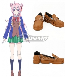 Happy Sugar Life Satou Matsuzak Brown Cosplay Shoes
